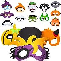 Nonbrand Maschera di Feltro di Halloween (15pcs), Forniture per Feste per Bambini Non tossiche e sicure, Cosplay di...