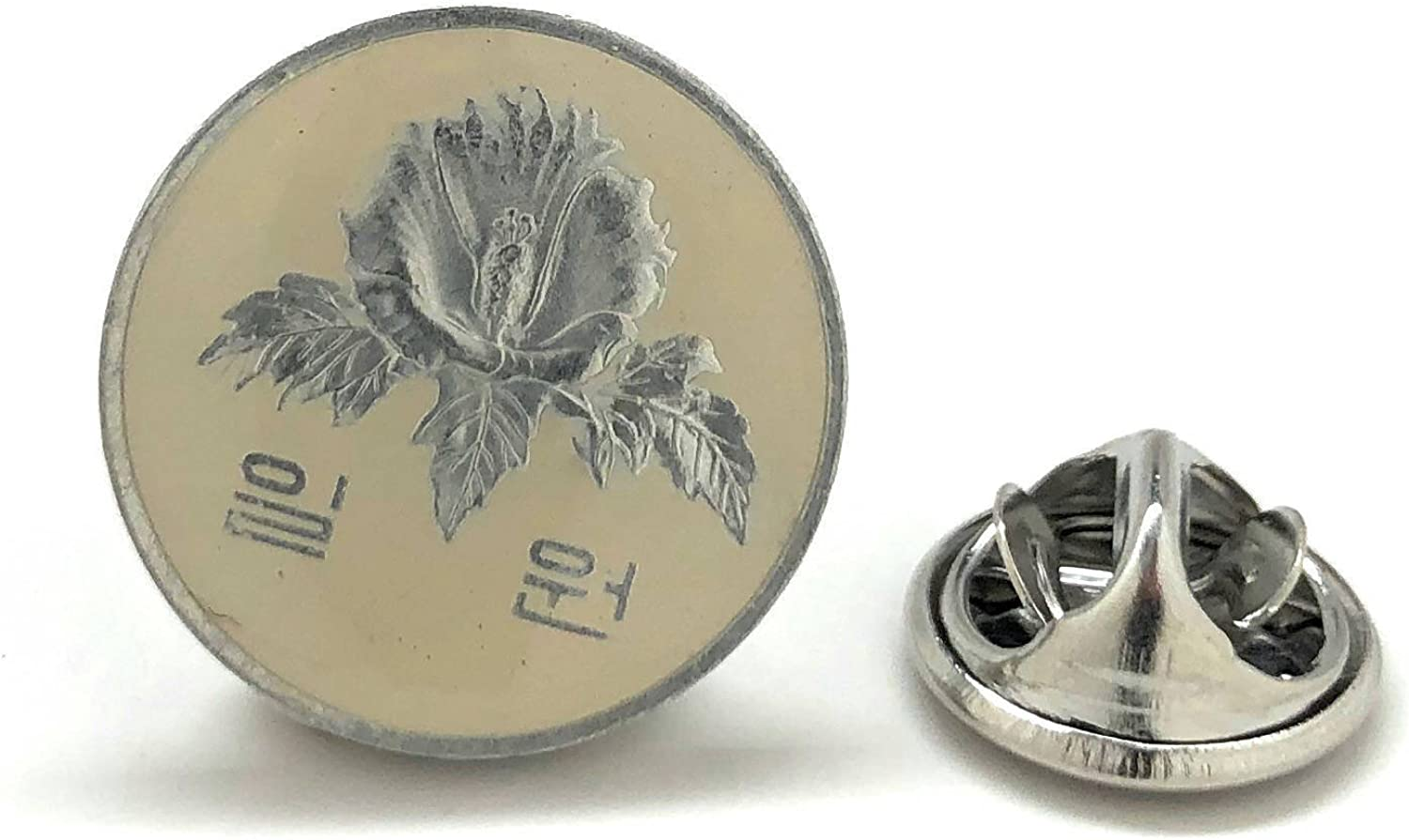 South List price Korea Coin Tie Tack Lapel Asia Flag Style Vintage Suit Max 69% OFF Pin