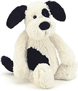 Jellycat Bashful Black and Cream Puppy Stuffed Animal, Really Big, 31 inches