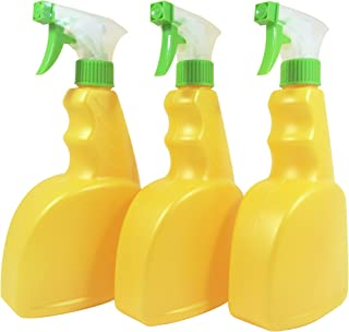 Natura Bona Empty 22oz Trigger Spray Bottle with a Ribbed Pistol Grip, 3 Pcs. Professional HDPE BPA Free Spray Bottle Ideal For Cleaning Solutions; repellents, suntan, gardening, home cleaners & more