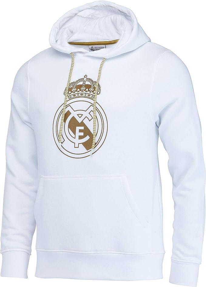 Real Madrid Felpa con Cappuccio Collezione Ufficiale - Uomo
