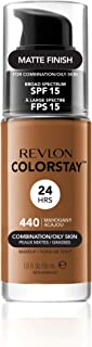 Revlon ColorStay Makeup Foundation for Combination/Oily Skin with Pump - 440 Mahogany, 1.0 oz.