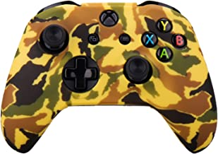 Pandaren Silicone rubber cover skin case anti-slip Water Transfer Customize Camouflage for Xbox One/S/X controller x 1 Ora...