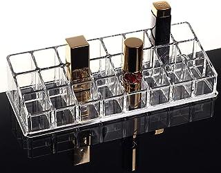 PuTwo Rangement Maquillage Boîte de Rangement pour Rouge à Lèvres à 24 Compartiments en Acrylique - sans Couvercle