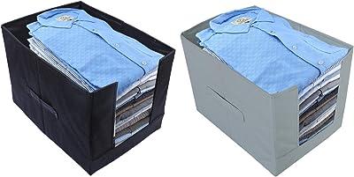 Kuber Industries 2 Piece Non Woven Shirt Stacker Wardrobe Organizer (CTKTC5565)