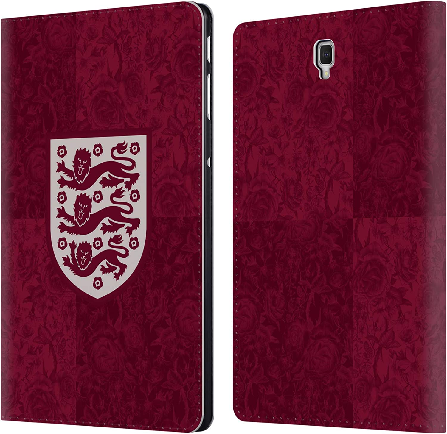 Official England National Football Team Away Kit 2019 20 Women's World Cup Leather Book Wallet Case Cover Compatible for Samsung Galaxy Tab S4 10.5 (2018)