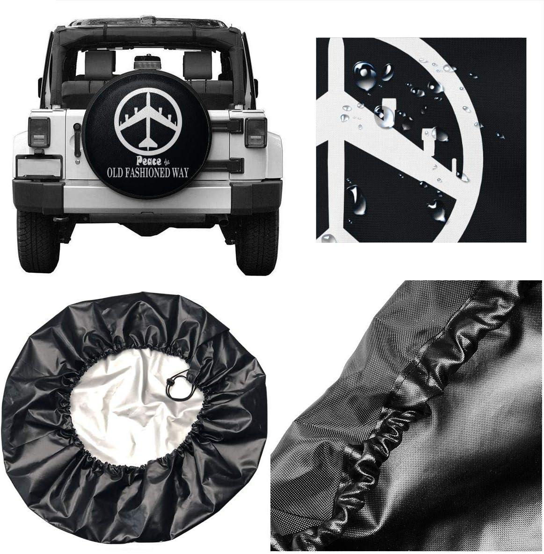 JKqueen B-52 Peace Spare Tire Cover Universal Wheel Tire Cover for Jeep Trailer RV SUV Truck Camper Travel Trailer Accessories