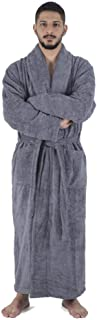 Arvec Men's Turkish Cotton Full Ankle Length Original Terry Shawl Collar Bathrobe