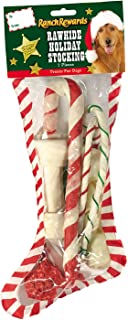 Ranch Rewards Rawhide Holiday Dog Stocking