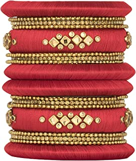 silk thread set bangles
