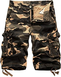185fbc2965 Hycsen Mens Cotton Relaxed Fit Fit Outdoor Camouflage Camo Cargo Shorts
