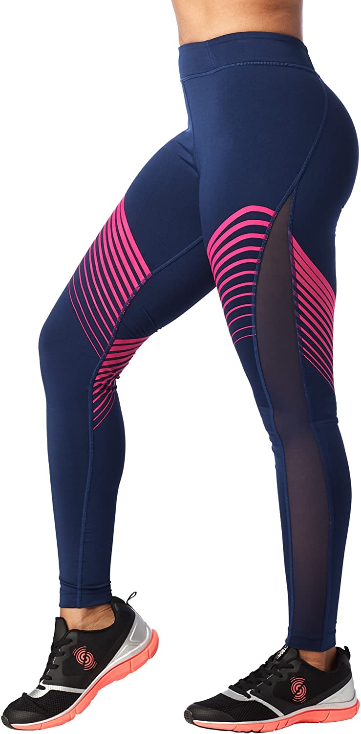 STRONG by Zumba Compression High Waisted Athletic Workout Leggings for Women