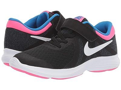 Nike Kids Revolution 4 (Little Kid) (Black/White/Anthracite/Hyper Pink) Girls Shoes
