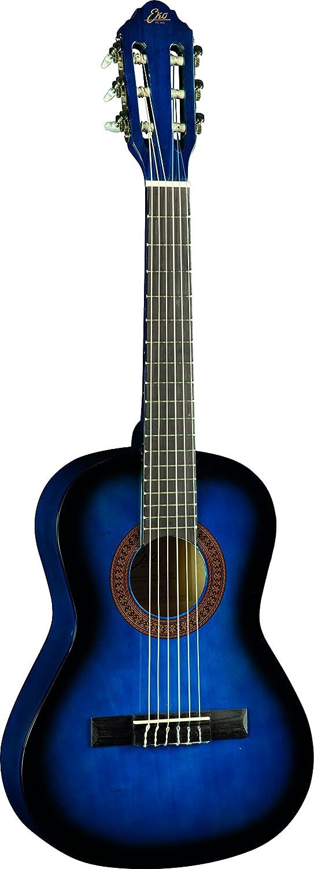 EKO Guitars – CS-2 Blue Burst Guitarra clásica serie Studio, escala 1/2, color azul Burst