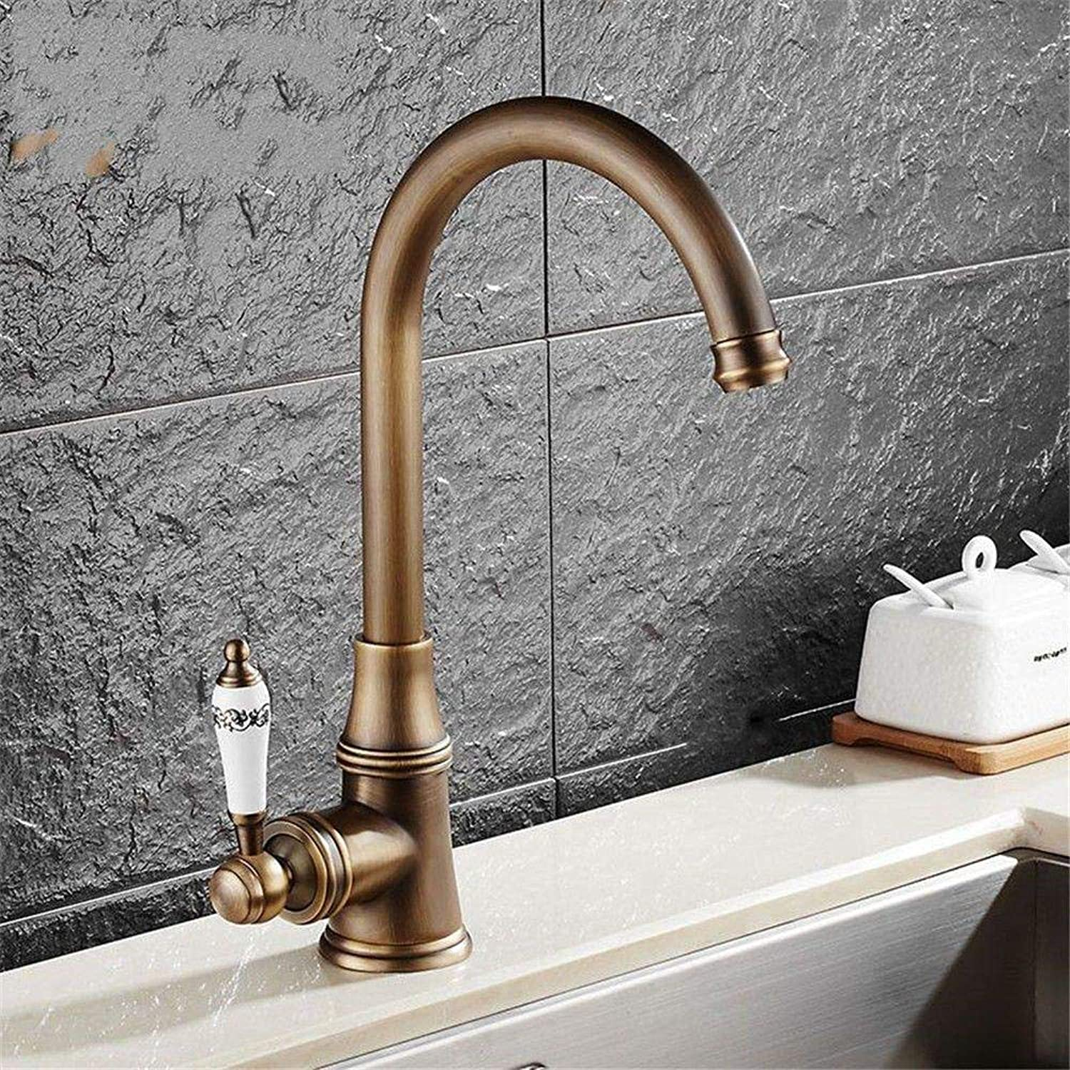 Honcx Faucet Taps Copper Kitchen Faucet Sink Washing Dish Sink Faucet Pull Faucet redating Hot and Cold Mixing Valve Basin Faucet