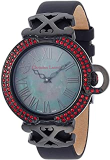 Christian Lacroix Women'S Mother Of Pearl Dial Leather Band Watch - C Clw8002404Sm,