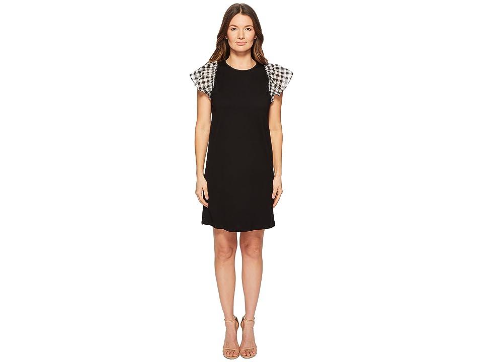 Kate Spade New York Voile Mixed Media Dress (Black Multi) Women