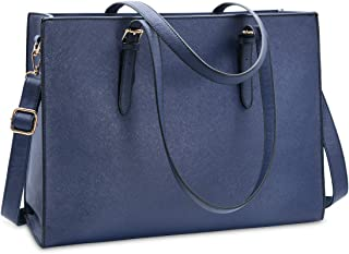 Laptop Bag for Women 15.6 inch Computer Work Tote Bag Leather Business Handbag