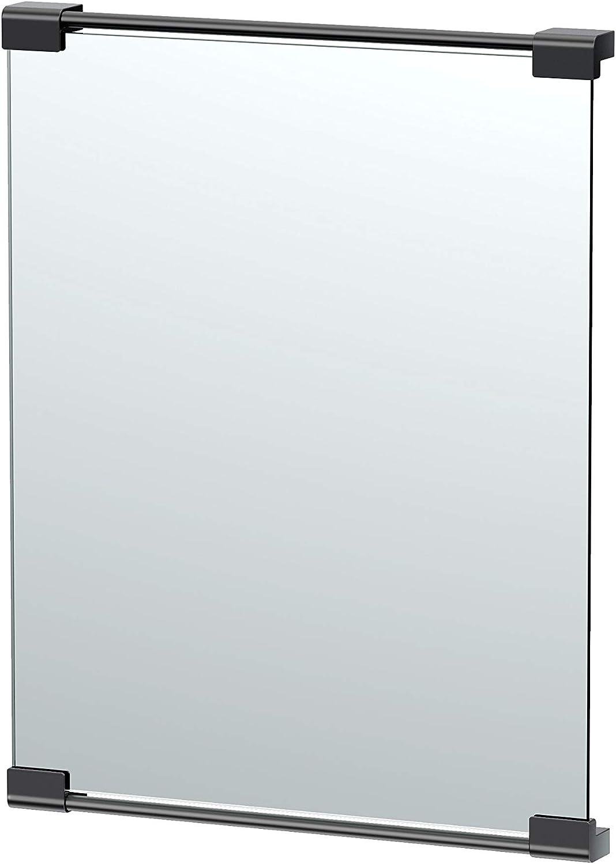 Gatco Fixed Mount Superior Max 51% OFF Rectangle Mirror Inch Matte 24 Black
