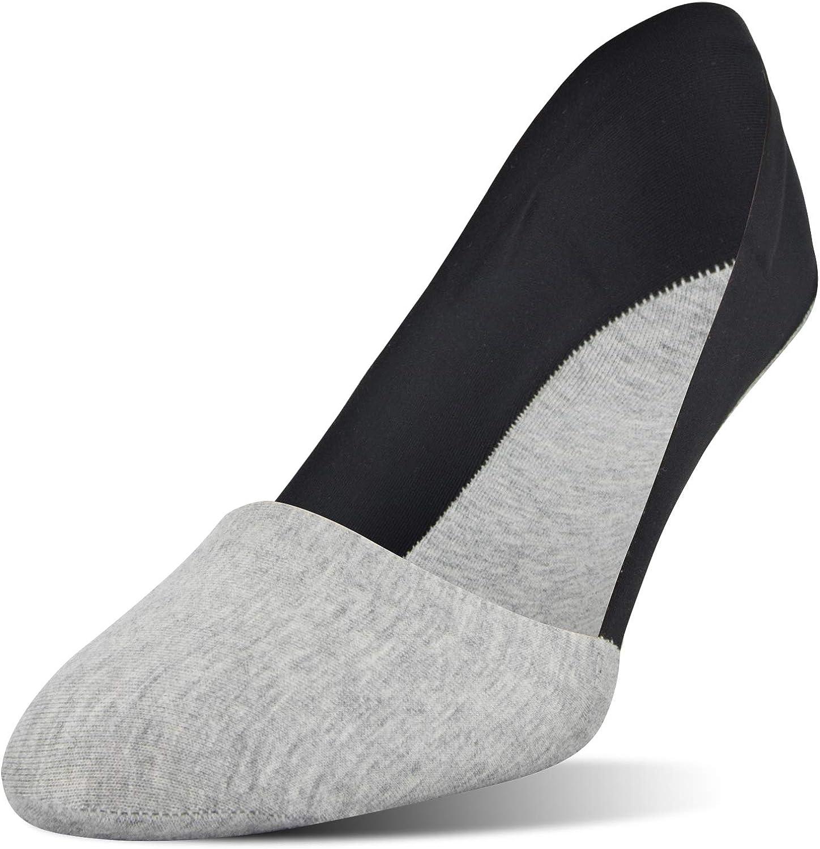 PEDS Women's Lasertrim Unseen Mid Cut Socks, 6 Pairs