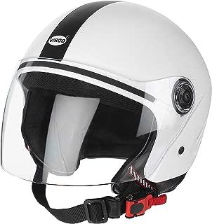 Virgo Helmet with Clear Visor (White, Medium)
