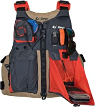 ONYX Kayak Fishing Life Jacket, Tan