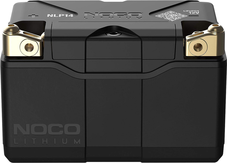 NOCO Lithium NLP14, Grupo 14, 500A Litio Powersports Batería, 12V 4Ah Batería de Moto con BMS Dinámico para Motos, Vehículos Todoterreno y Escúteres