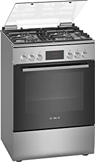 Bosch Free Standing Cooker, Top Gas Electric Oven, St.Steel 60cm, HXQ38AE50M, 1 Year Warranty