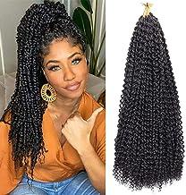 6 Packs Passion Twist Hair 18 Inch Water Wave Braiding Hair Passion Twist Crochet Braids Water Wave for Passion Twists Pre Looped Spring Twists Bomb Twist Crochet Hair Faux Locs(1B#)
