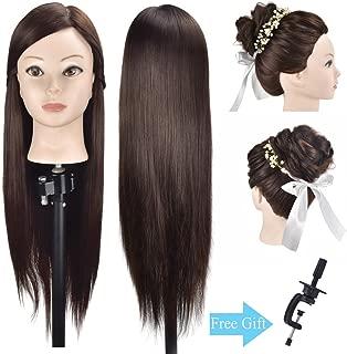 練習用 編み込み練習用 ウィッグマネキンヘッド ヘアアクセサリーセット 美容室サロン 100%合成髪