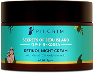 Pilgrim Retinol Night Cream with Vitamin C | Anti-ageing, Discover Youthful & Glowing Skin | For Wrinkles, Fine Lines | Dr...