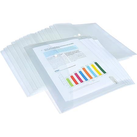 Rapesco 1496 Pack de 20 Pochettes Porte-documents - Format A4+ - Transparent