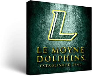 Victory Tailgate Le Moyne College Dolphins Canvas Wall Art Museum Design (12x12)