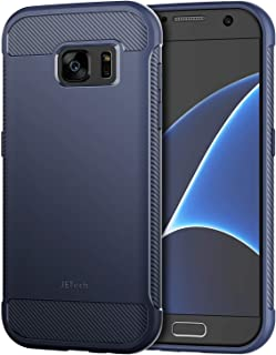 JETech Case for Samsung Galaxy S7 Protective Cover with Shock-Absorption and Carbon Fiber..