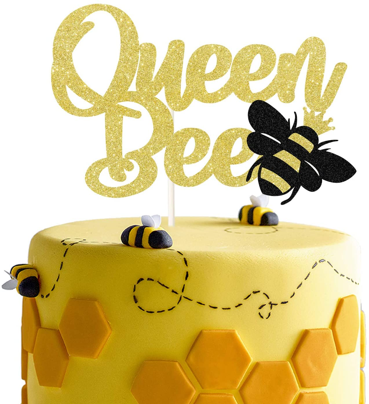 Gold Glitter Queen Bee Colorado Springs Mall Cake San Francisco Mall Topper Happy Themed Bumble Birt