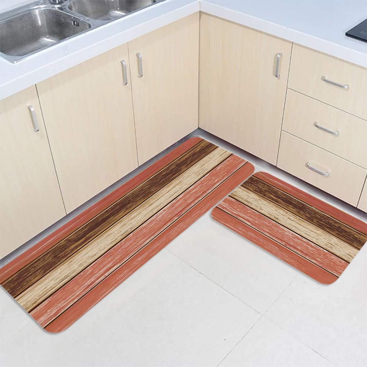 Anti Fatigue Kitchen Mat Set Waterproof cheap of 2 Rustic Industry No. 1 Mats