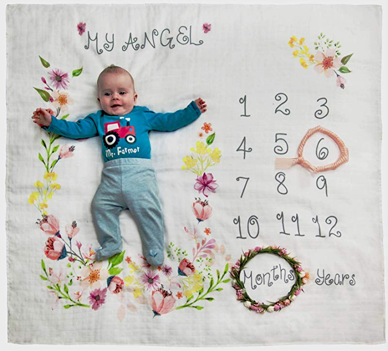 Baby Monthly Milestone Blanket For Boys Girls Large 47x47 New Mom S Gifts Soft Baby Blankets For Unisex Baby Shower Gifts Newborn Photography Props Baby Girl Boy Receiving Blankets Washcloths