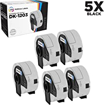 LD Compatible White Label Replacement for Brother DK-1203 0.66 Inch x 3.4 Inch (300 Sheets, 5-Pack)