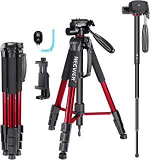 Neewer 70 inches Aluminium Camera Tripod Monopod with 3-Way Swivel Pan Head,Cellphone Holder,Bag for iPhone,Samsung,Huawei...