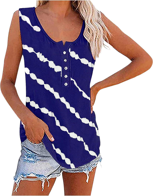 POLLYANNA KEONG Tank Tops for Women,Sunflower Tank Tops for Women Summer Cute Sleeveless Tops Casual Tee Crewneck Shirt