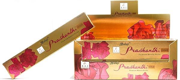 Balaji Prashanthi Premium Masala 香棒手卷 Agarbathi 印度制造 15gms X 12 包
