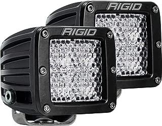 Rigid Industries 202513 LED Light (D-Series Pro, 3 Inch, Flood Diffused Beam, Pair, Universal), 2 Pack