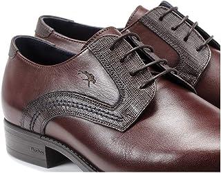 Fluchos | Zapato de Hombre | Luke F1053 Habana Castaño Zapato de Vestir | Zapato de Piel | Cierre con Cordones | Piso TR