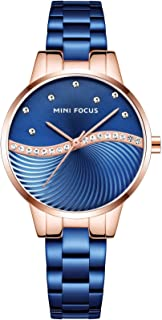 Mini Focus Womens Quartz Watch, Analog Display and Stainless Steel Strap - MF0263L.04