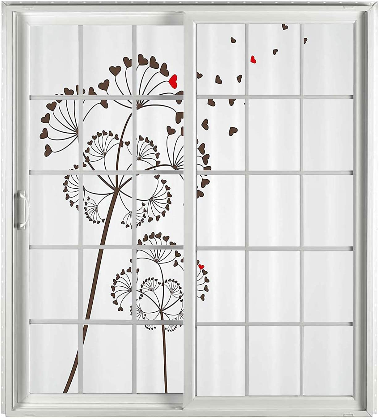Valentine Spring new work one after another Stain Glass Ranking TOP1 Window Cling 2 Set Red Blue PCS Umber Baby