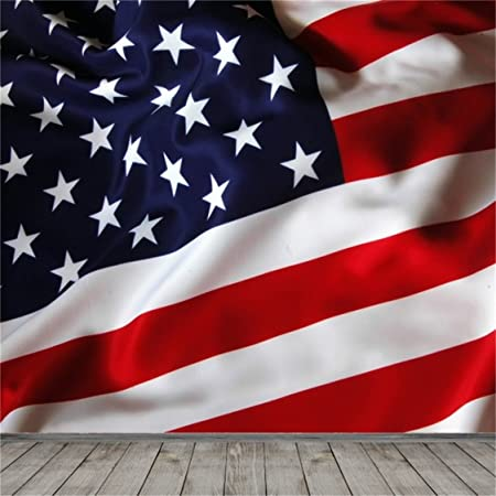 FUERMOR American Flag Backdrop for Veterans Day Activity Background Photo Studio Props 7x5ft DSFU083