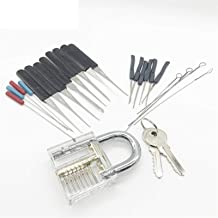 Lock Pick Set Slotenmaker Spansleutel Gereedschap Gebroken Sleutel Extractor Tool met Transparante Praktijk Pick Lock Slot...