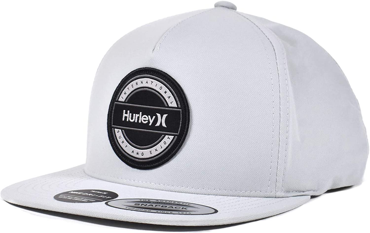 Hurley Mens M Fly Fishin Hat One Size Cool Grey
