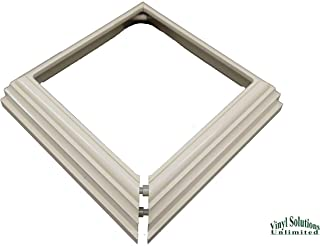 "Vinyl PVC 4"" x 4"" Post Two-Piece Base Trim Skirt (Tan/Almond)"