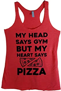 The Bold Banana Women's My Head Says Gym But My Heart Says Pizza Tank Top